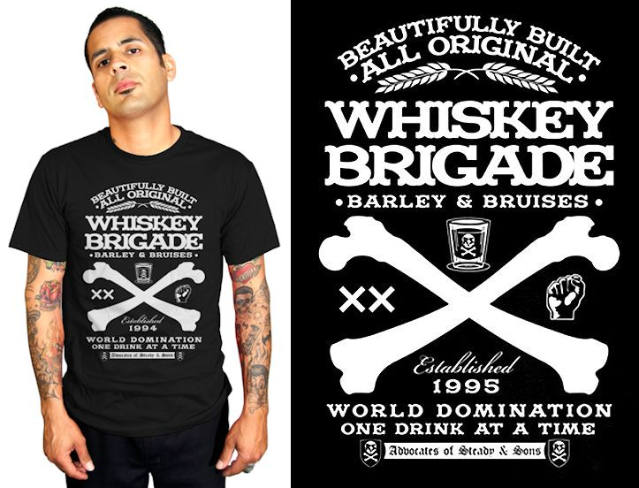 Rock Stead Men S Whiskey Brigade Rockabilly Tees Are Now