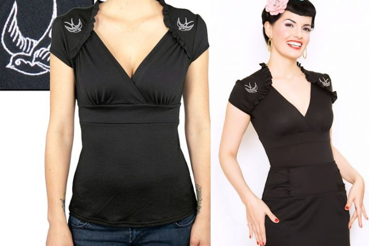 top sparrow lush black steady rockabilly psychobilly retro vintage 50s pinup FB