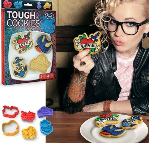 tough cookies tattoo cookie cutters swooping swallow anchor heart rockabilly psychobilly vintage punk FB