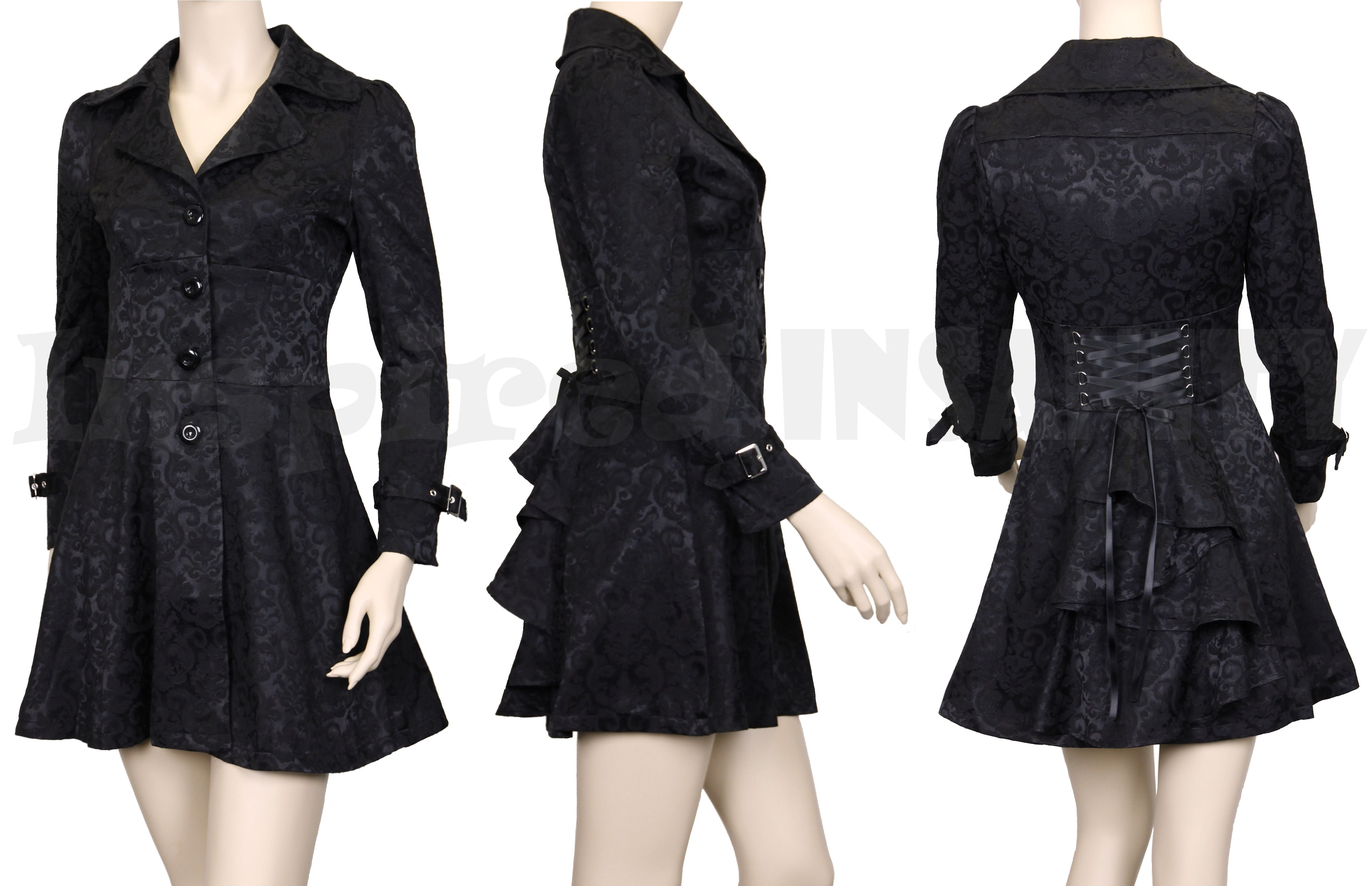 NEW – Damask Bustle & Corset Jacket , available in plus sizes!