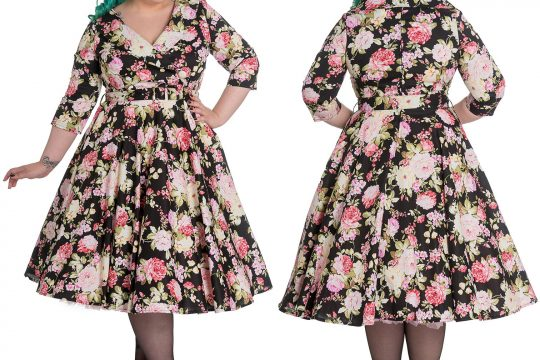 dress DAHLIA vintage retro floral swing dress retro rockabilly 50s g