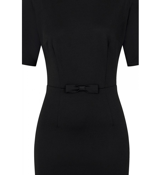 COLLECTIF Beverly Bow 1950s Pencil Dress