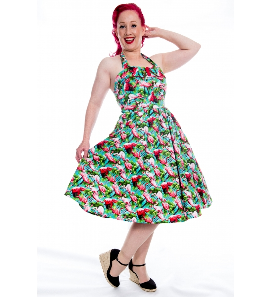 FlaminGo For It Rockabilly Kitsch Dress