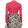Rockabilly Flamingo Pink Long Sleeve Bolero Cardigan